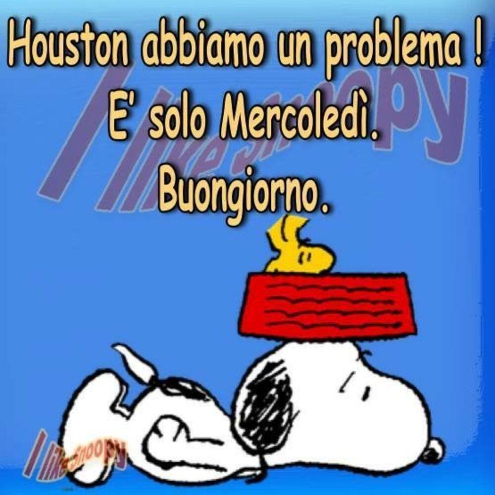 """""""Houston abbiamo un problema. E' solo Mercoledì. Buongiorno"""" - Snoopy"""