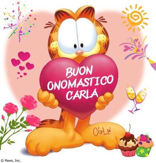 """Garfield - """"Buon Onomastico Carla"""""""
