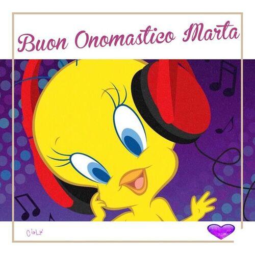 "Cartoline gratis - ""Buon Onomastico Marta"""
