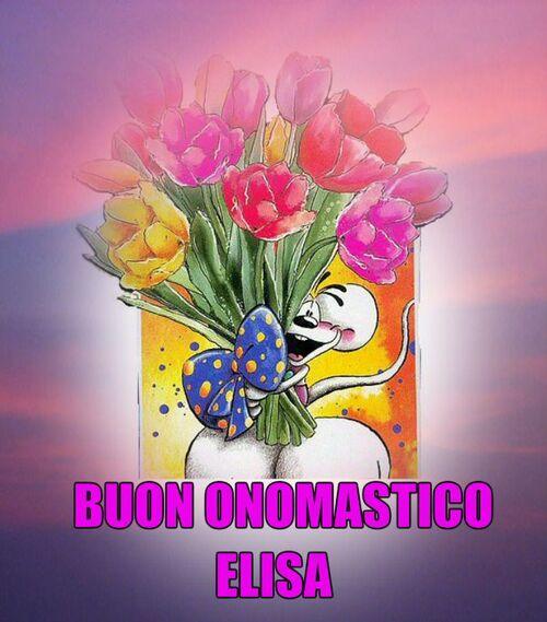 """Buon Onomastico con i nomi femminili - """"Buon Onomastico Elisa"""""""