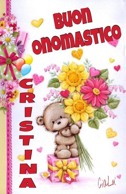 """""""Buon Onomastico Cristina"""""""