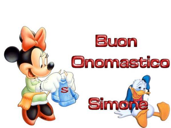 """""""Buon Onomastico Simone"""""""