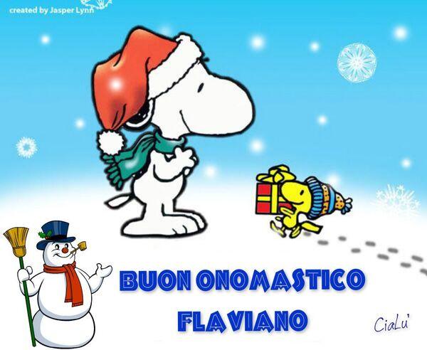 "Snoopy - ""Buon Onomastico Flaviano"""