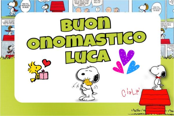 "Immagini gratis - ""Buon Onomastico Luca"""