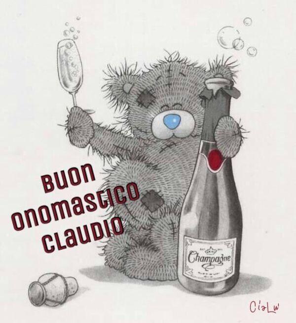 """Buon Onomastico con nomi maschili - """"Buon Onomastico Claudio"""""""