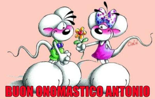 """Buon Onomastico Antonio"""