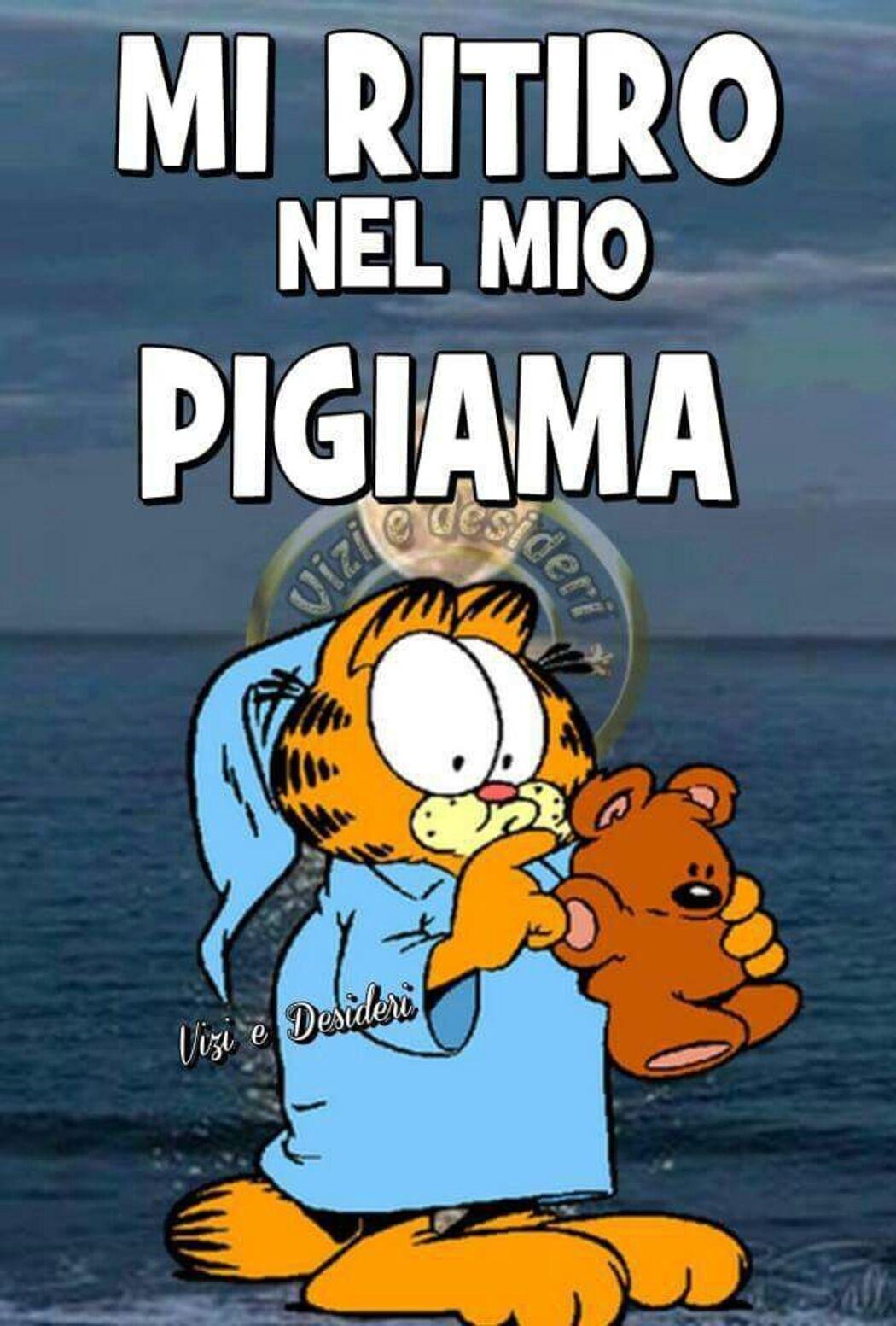 """""""BUONANOTTE, MI RITIRO NEL MIO PIGIAMA"""" - link divertenti Garfield"""