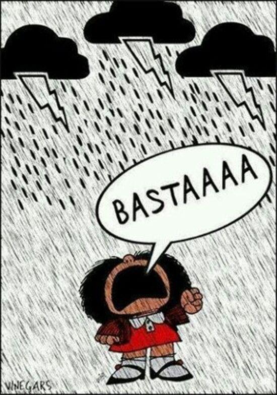 """""""BASTAAAA"""" - buongiorno piovoso divertente"""