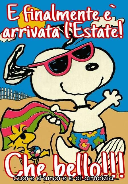 """""""E finalmente è arrivata l'Estate! Che bello !!!"""" - Snoopy"""