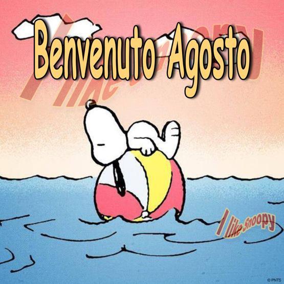 """Snoopy - """"Benvenuto Agosto"""""""