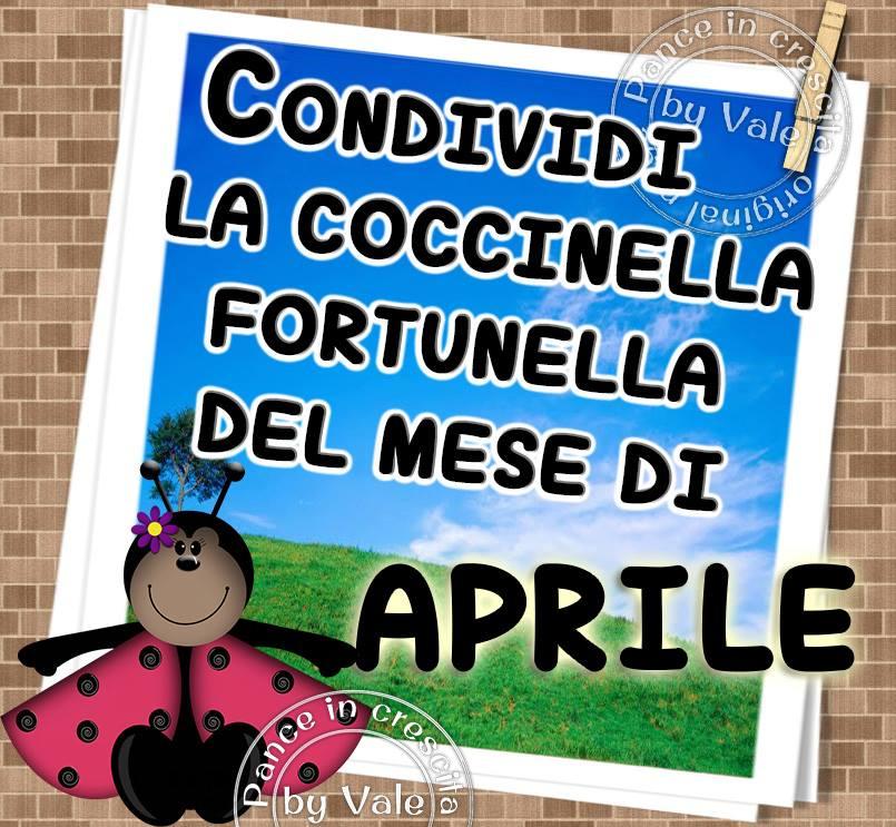 """""""Condividi la coccinella portafortuna del mese di Aprile"""""""