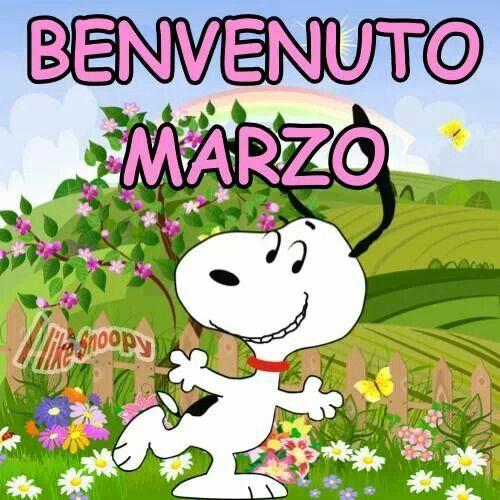 """""""BENVENUTO MARZO"""" - Snoopy"""