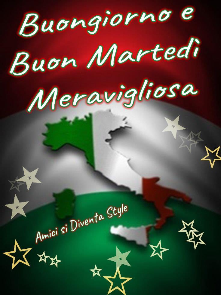 Buon Martedì andrà tutto bene, meravigliosa Italia