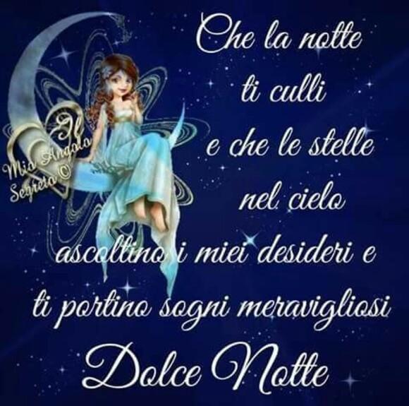 """""""Che la notte ti culli e che le stelle nel cielo ascoltino i miei desideri e ti portino sogni meravigliosi. Dolce Notte"""""""