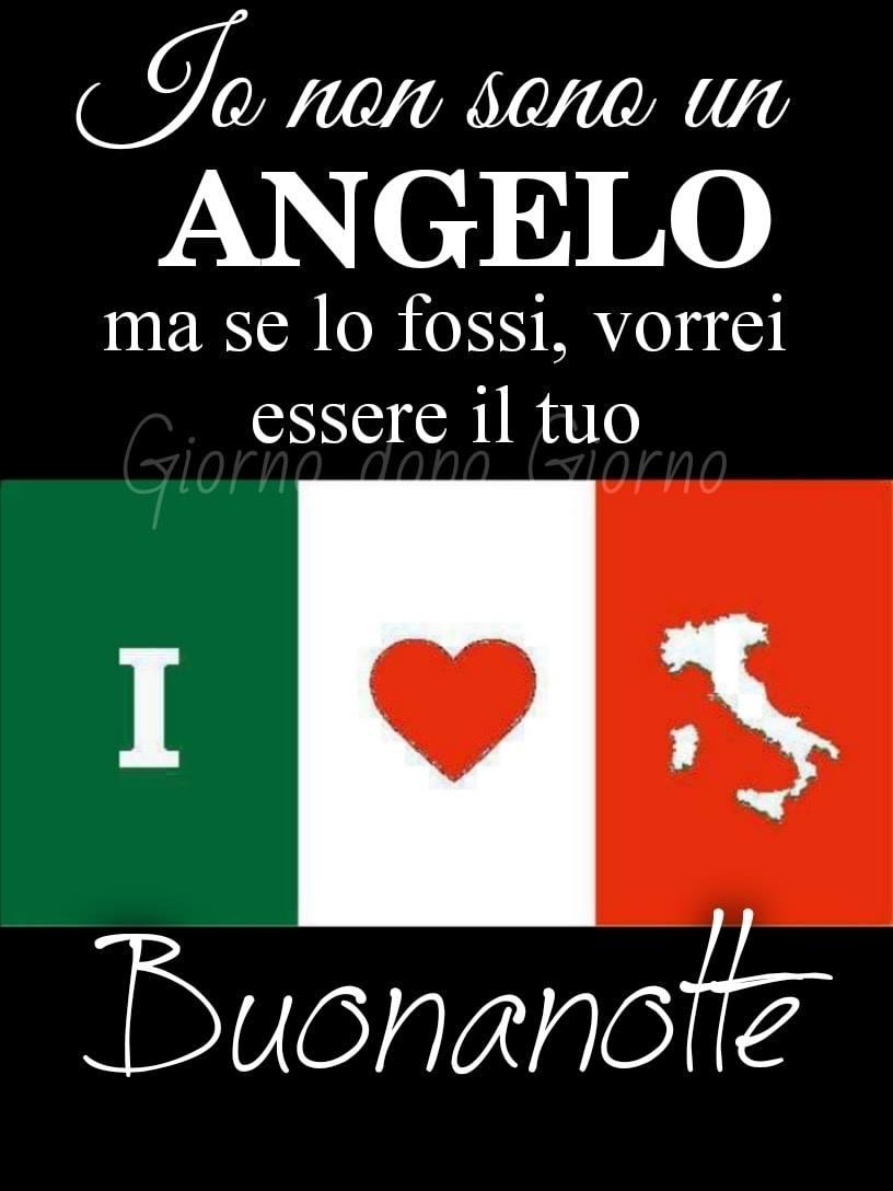 """""""Io non sono un Angelo, ma se lo fossi vorrei essere il tuo. Buonanotte italiani"""""""