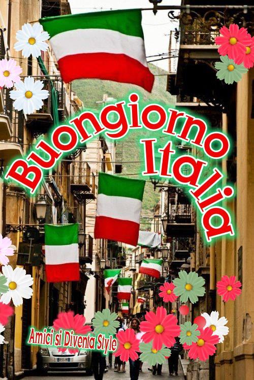 Buona Giornata con la bandiera italiana