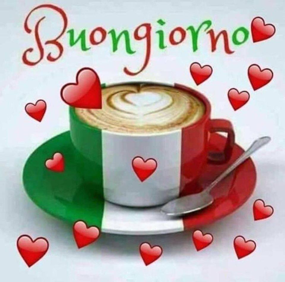 Link di Buongiorno con i colori dell'Italia