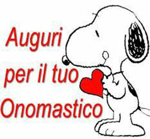 """Snoopy - """"Auguri per il tuo Onomastico"""""""