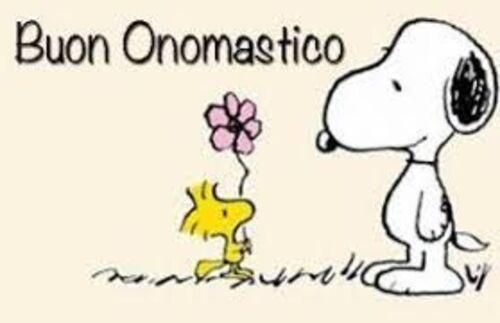 Buon Onomastico Snoopy
