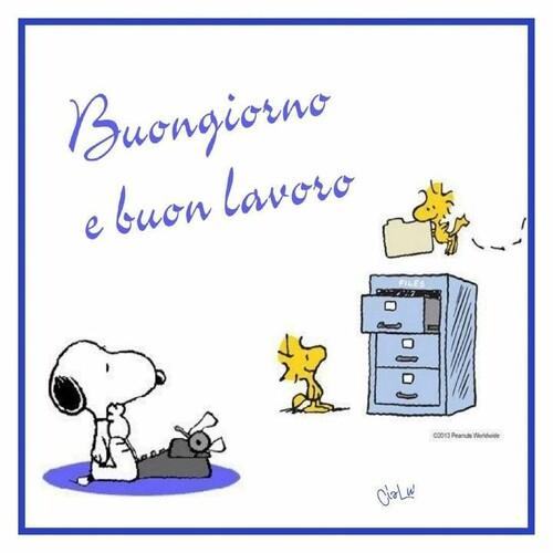 """""""Buongiorno e Buon Lavoro"""" - da Snoopy e Woodstock"""