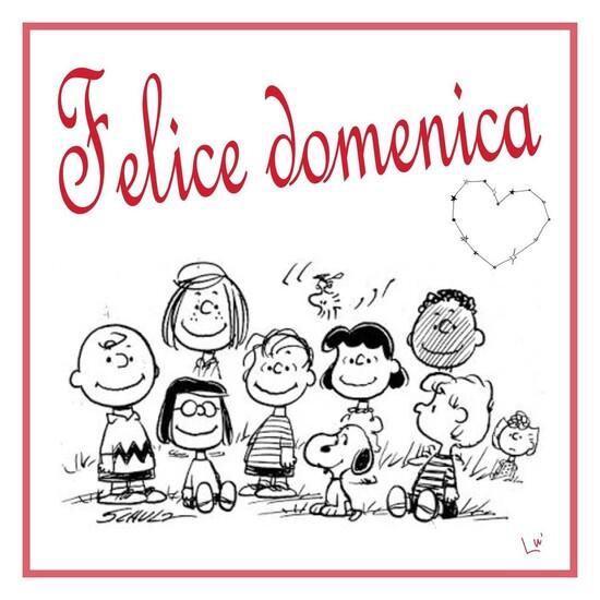Felice Domenica da Snoopy Charlie Brown & Co.