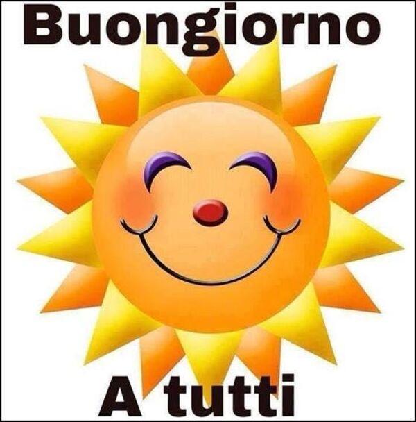 Buongiorno a tutti col sole