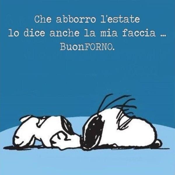 """""""Buon Forno"""" - Vignette divertenti con Snoopy per Buongiorno fa caldo"""