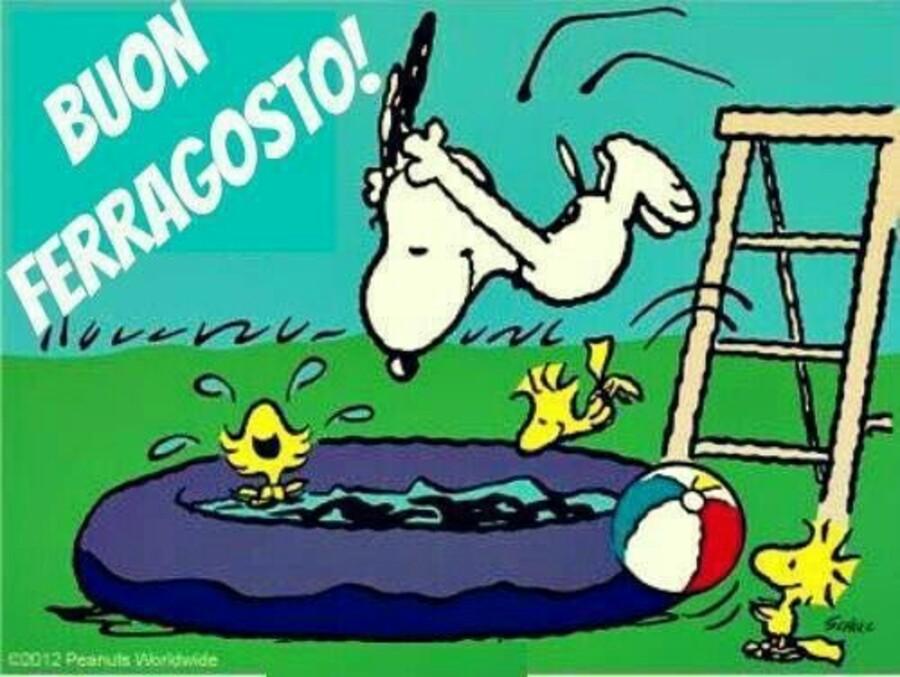 """""""Buon Ferragosto!"""" - da Snoopy e Woodstock"""