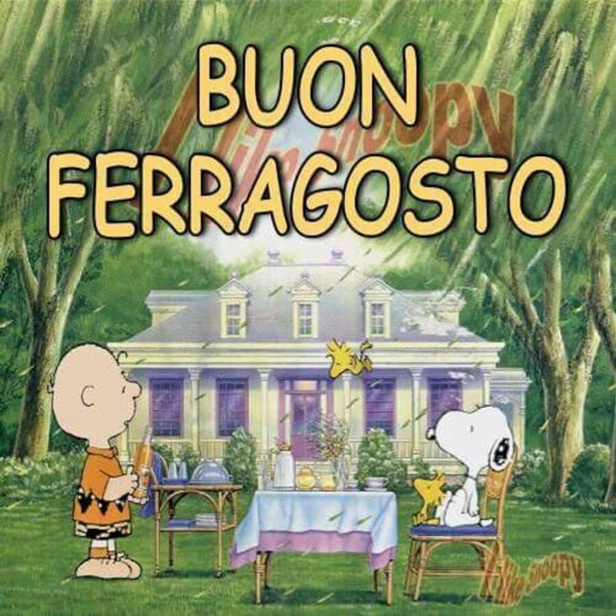 """""""Buon Ferragosto"""" - da Snoopy e da Charlie Brown"""