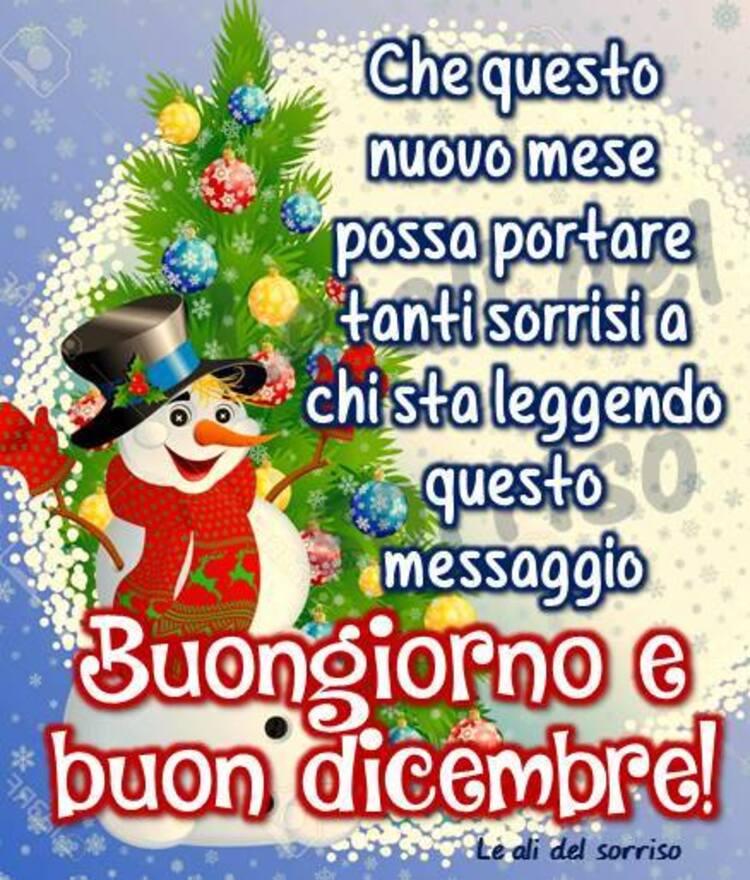 """""""Che questo nuovo mese possa portare tanti sorrisi a chi sta leggendo questo messaggio. Buongiorno e Buon Dicembre!"""""""