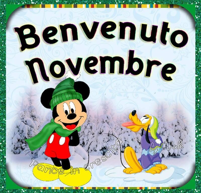 """""""Benvenuto Novembre"""" - immagini Walt Disney"""