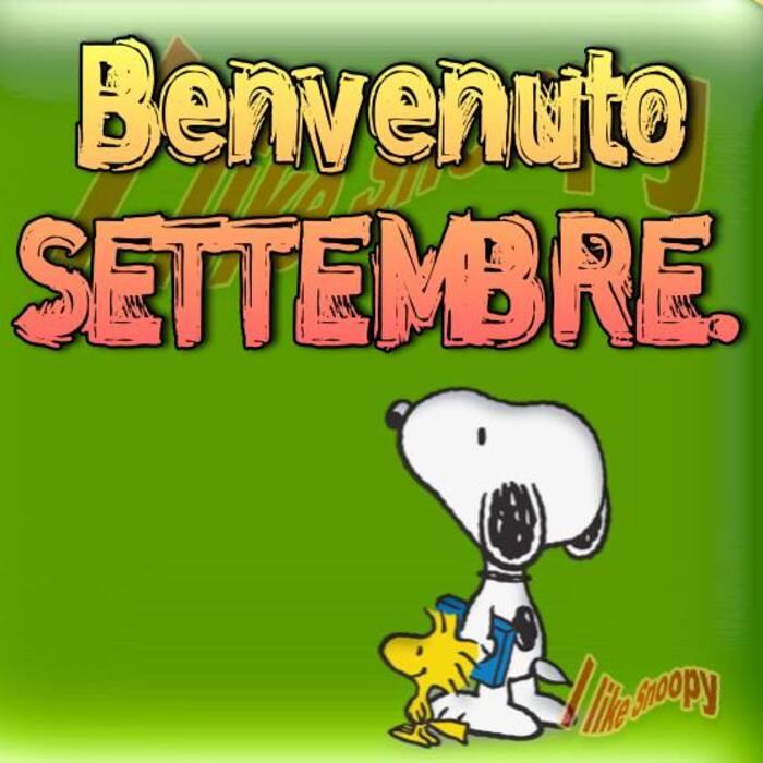 """""""Benvenuto Settembre"""" - Snoopy"""