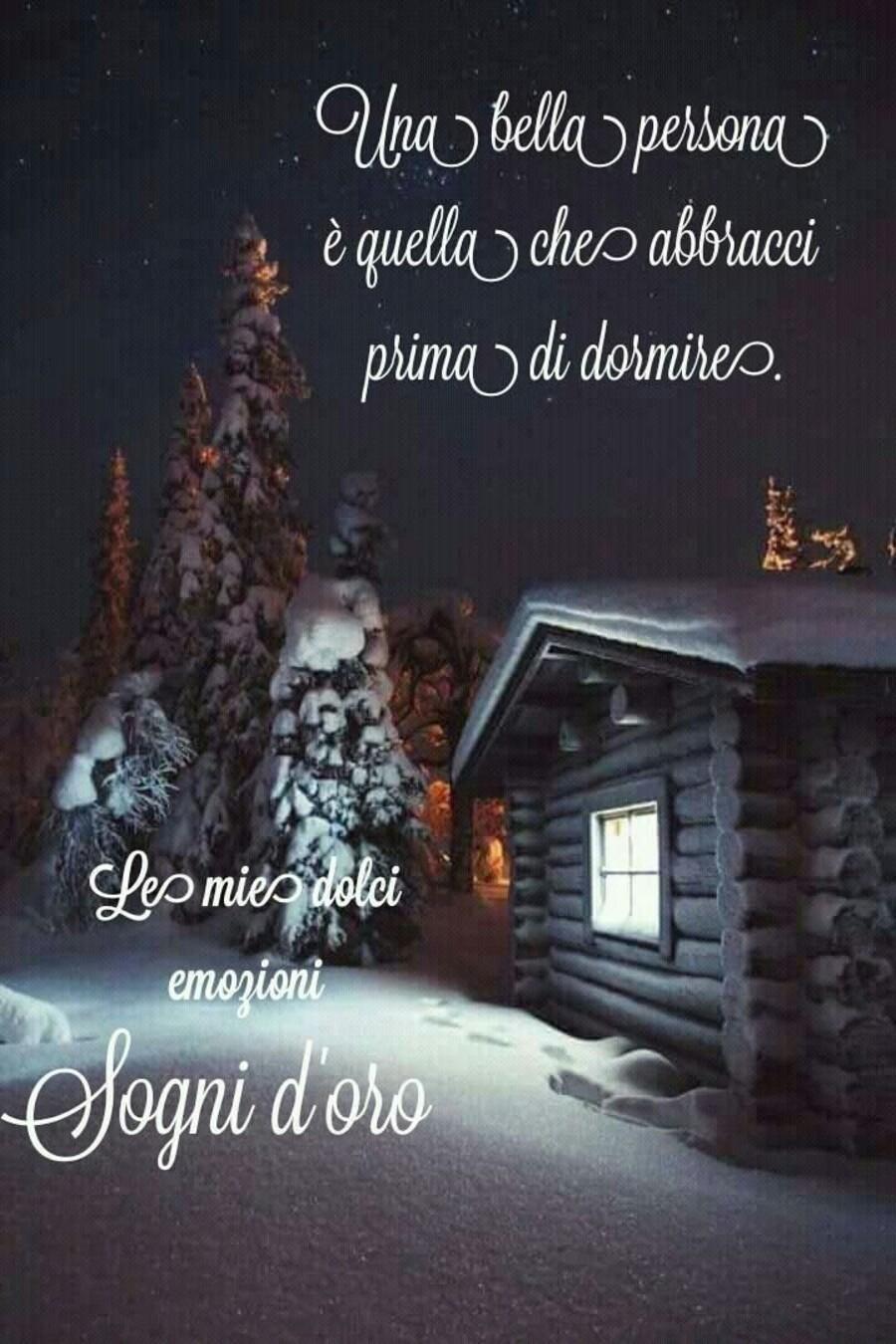 """Buonanotte inverno - """"Una bella persona è quella che abbracci prima di dormire. Sogni d'Oro"""""""