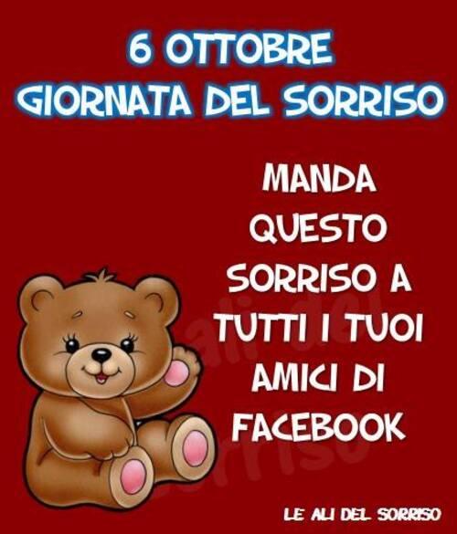 """""""6 Ottobre Giornata del Sorriso. Manda questo sorriso a tutti i tuoi amici di Facebook"""""""