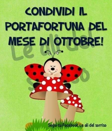 """""""Condividi il portafortuna del mese di Ottobre!"""""""