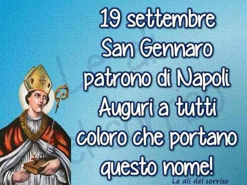 Buongiorno San Gennaro. San Gennaro, Patrono di Napoli. Auguri a tutti coloro che portano questo nome!