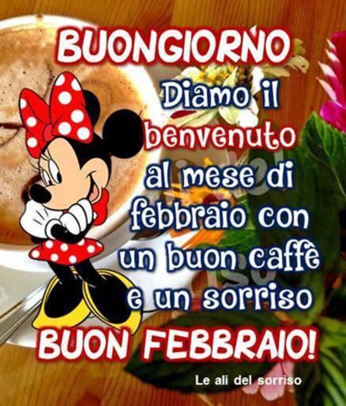 """""""Buongiorno, diamo il benvenuto al mese di Febbraio, con un buon caffè e un sorriso. BUON FEBBRAIO!"""""""