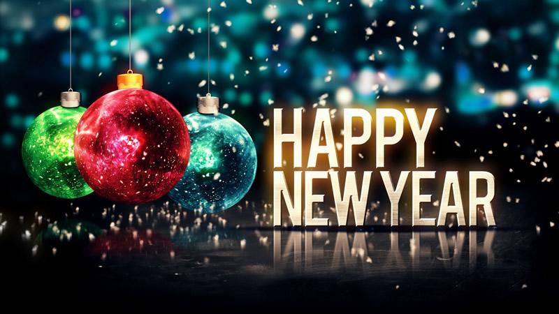 Auguri di Felice Anno Nuovo in lingua inglese