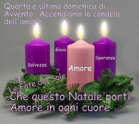 """""""Che questo Natale porti amore in ogni Cuore. Quarta ed Ultima Domenica di Avvento... Accendiamo la candela dell'Amore"""""""