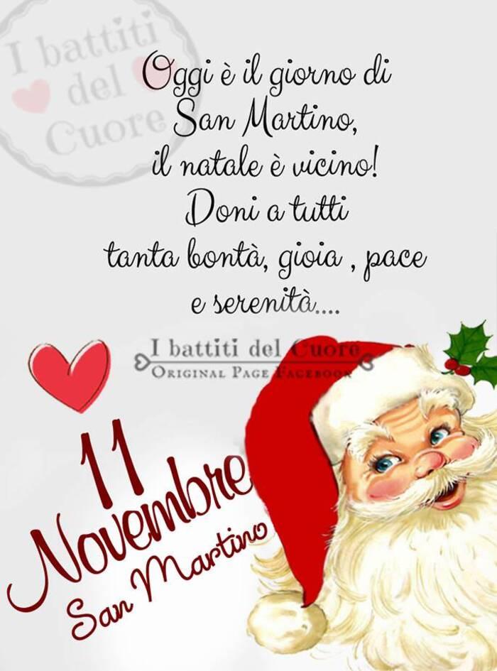 """""""Oggi è il Giorno di San Martino, il Natale è vicino! Doni a tutti tanta Bontà, Gioia, Pace e Serenità... 11 Novembre San Martino"""""""