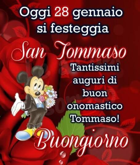 """San Tommaso immagini - """"Oggi 28 Gennaio si festeggia San Tommaso. Tantissimi Auguri di Buon Onomastico! Buongiorno"""""""