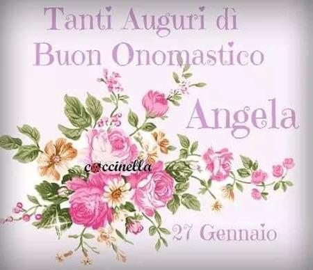 """Immagini per Sant'Angela - """"Tanti Auguri di Buon Onomastico Angela! 27 Gennaio"""""""