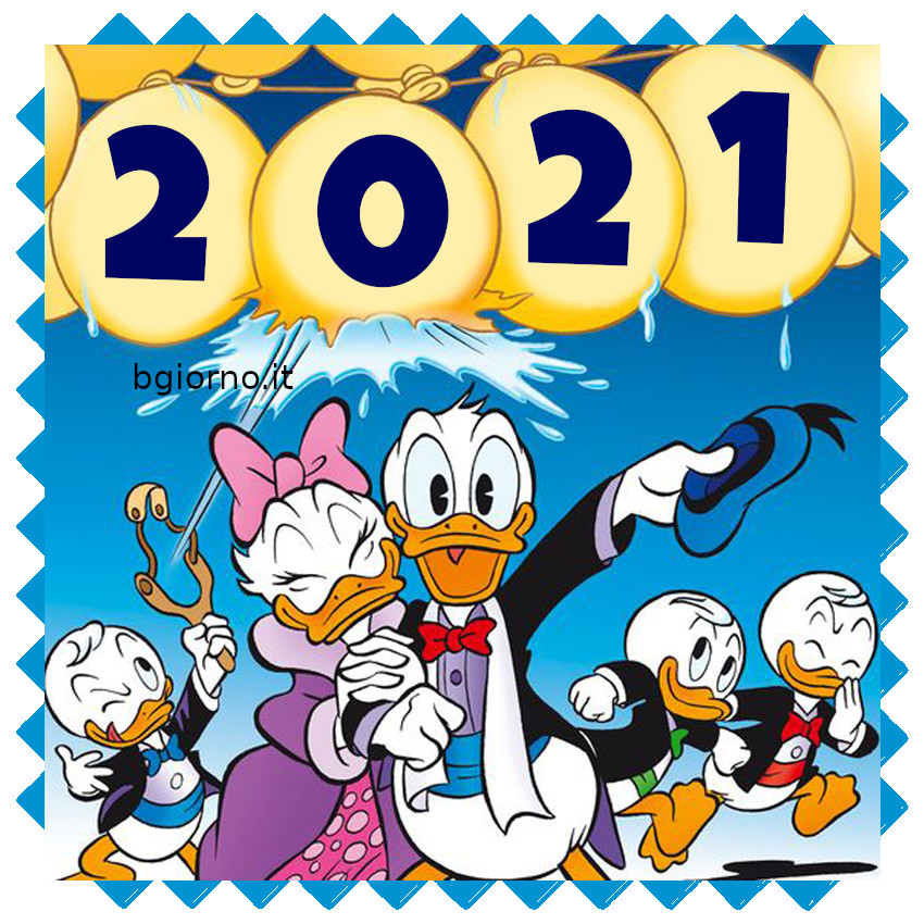 Cartoline di auguri di Buon 2021 Walt Disney