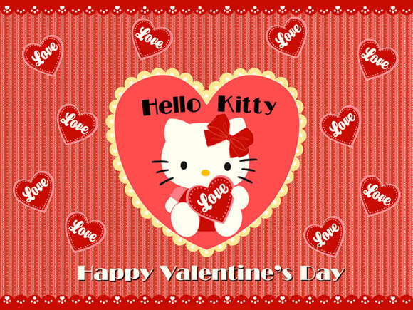 """Happy Valentine's Day"" - Hello Kitty"